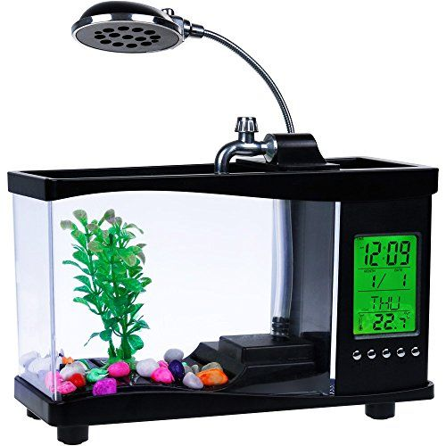 Zacro USB Mini Fish Tank 21 Gallon Aquarium Kit Desktop Globe With