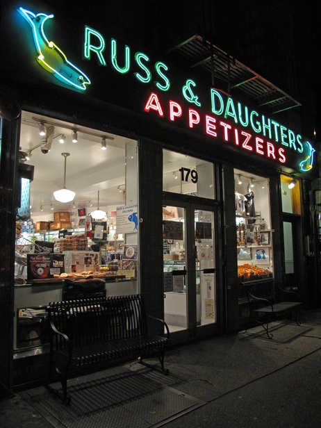 """""""The House the Herring Built"""" has served New York City for more than a century. Russ and Daughters specializes in Smoked Fish (for Michael)"""