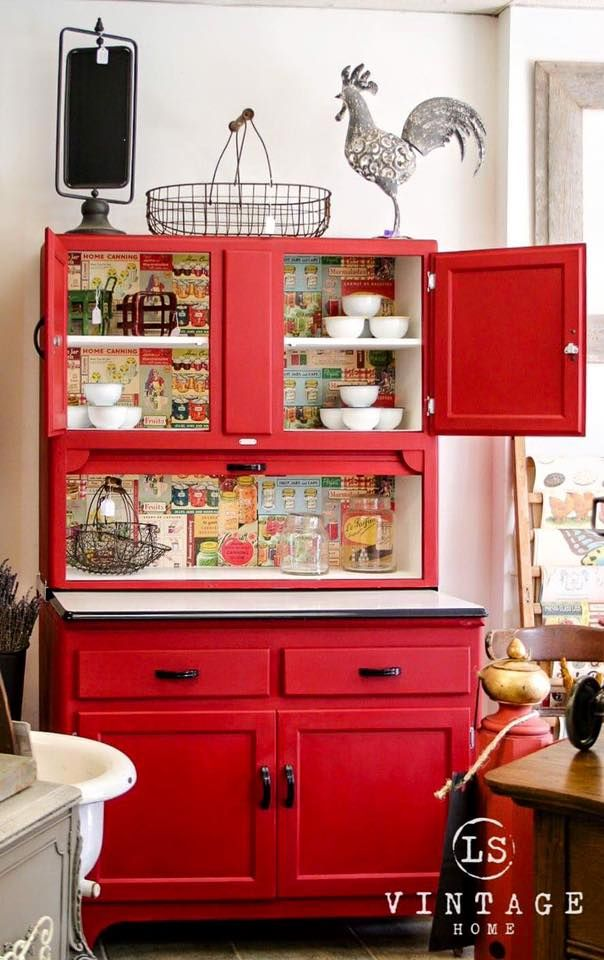 Emperor's Silk Chalk Paint® on Hoosier Cabinet | Painted Furniture Kitchen Ideas | Project by Annie Sloan Stockist Love Street Vintage Furniture