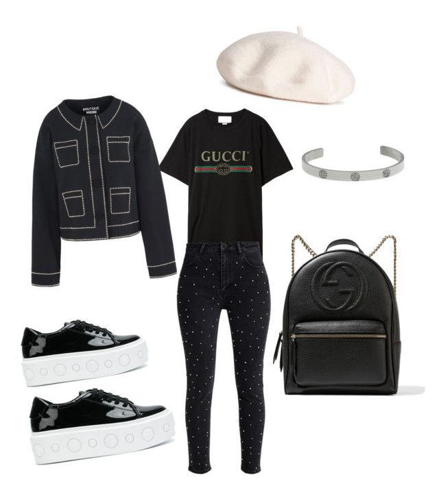 """""""Sunday"""" by madisonkiss on Polyvore featuring Versus, Gucci, Moss and Boutique Moschino"""