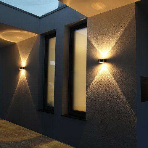LCD Creativ-Design Außenwandleuchte Up & Down Linse Typ 027   0€ Versand   Deutsche-Leuchten.de