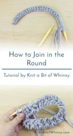 Knitting Tutorial: How to Join in the Round . . . . . Are you spending too much time neatening your joins when knitting in the round? Looking for a beginner-friendly tutorial to learn how to join your knitting in the round? I'll share my favourite method at www.knitabitofwhimsy.com