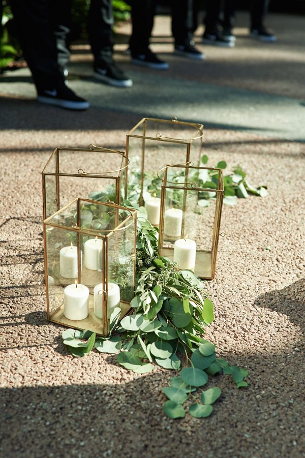 ceremony decor - photo by The Reason http://ruffledblog.com/modern-downtown-la-wedding