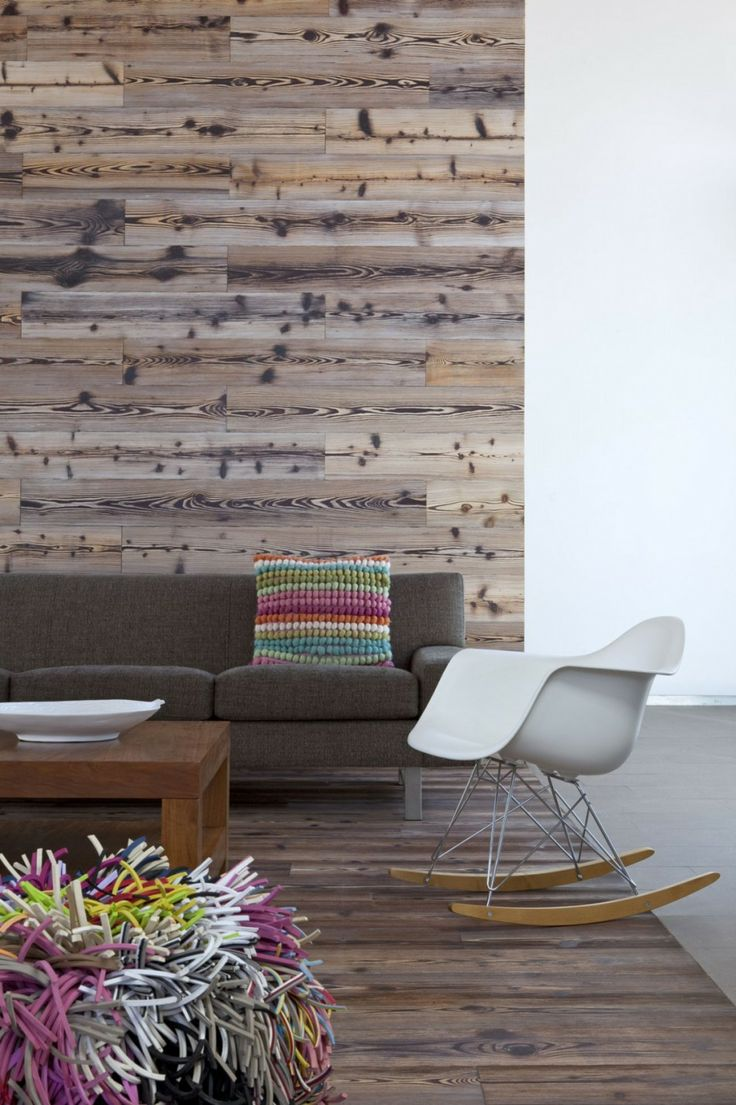 Wall Decor Behind A Couch : Wooden wall behind the couch design