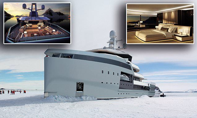 New superyacht can break through ice and visit remote destinations