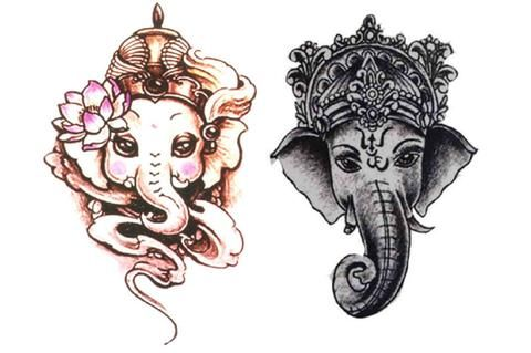 Minotaur ganesha elephant temporary tattoo tattoo 39 s for Temporary elephant tattoo