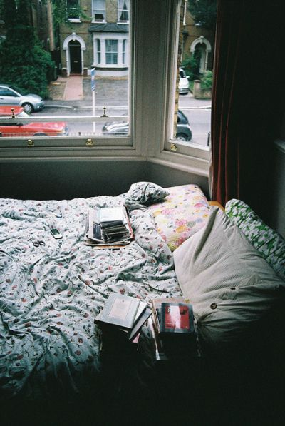 Bed by the window, perfection. Love having a view.