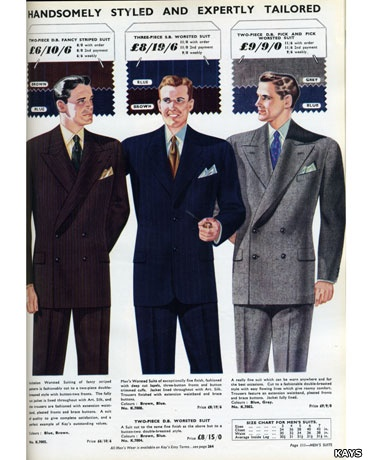 Fashion for men in 1952: a classic post-war suit. After years of wartime austerity, by golly glamour returned to Britain in the 1950s! With clothes rationing ending in 1949, the post-war gentleman may have sported a suit with wide trousers and accompanying turn-ups.: Fashion Clothing, Costume Ideas, 1950S Mensfashion, 1950 S Fashion, 1950S 22, 1940Sfashion Ideas, 1950S Fashion