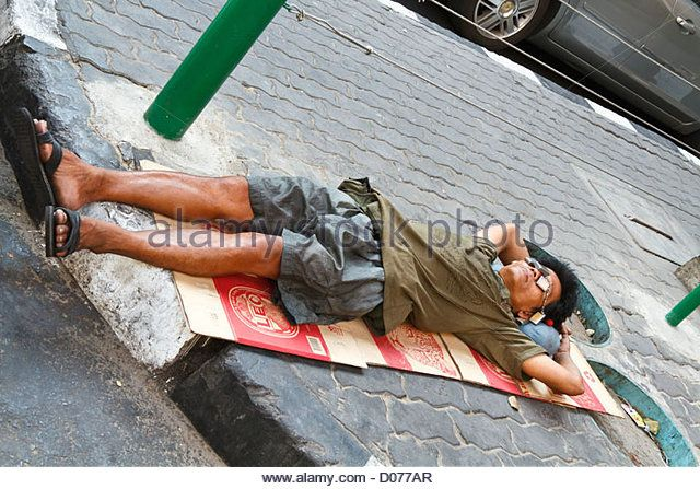 how to sleep on a sidewalk | Man Poverty Sleeping Street Stock Photos & Man Poverty Sleeping Street ...