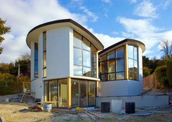 Crawford House - built of Hemcrete.  Hempcrete material that creates a healthy breathable home.