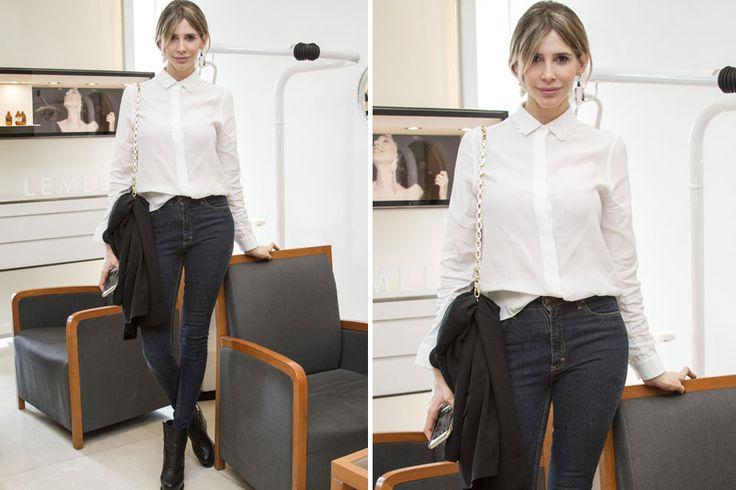 Ohlaleando: mirá lo que se puso Verónica Lozano  Guillermina Valdes, con camisa blanca, jean y botas, en el mismo evento Foto:Gentileza Prensa