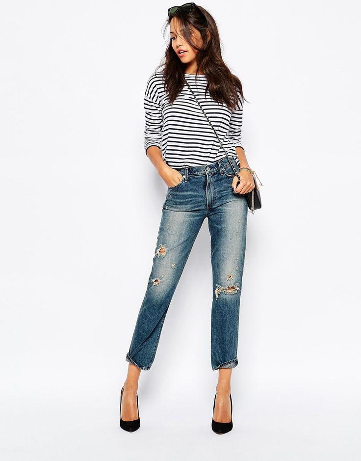 A-Gold-E Camile Vintage Inspired Slim Ankle Leg Jean
