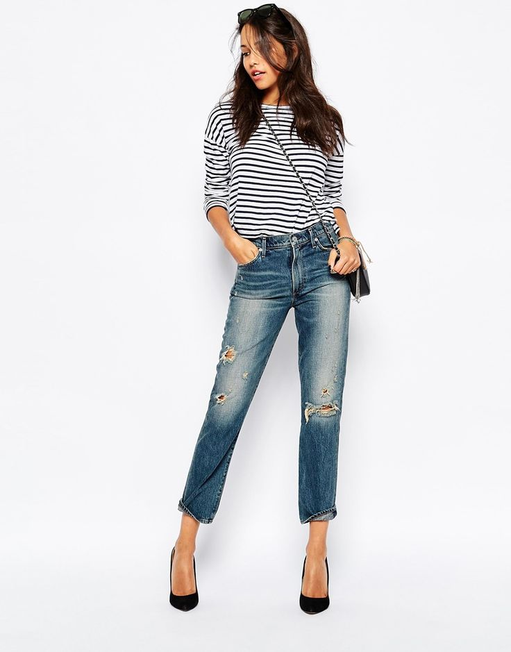 Image 1 of A-Gold-E Camile Vintage Inspired Slim Ankle Leg Jean