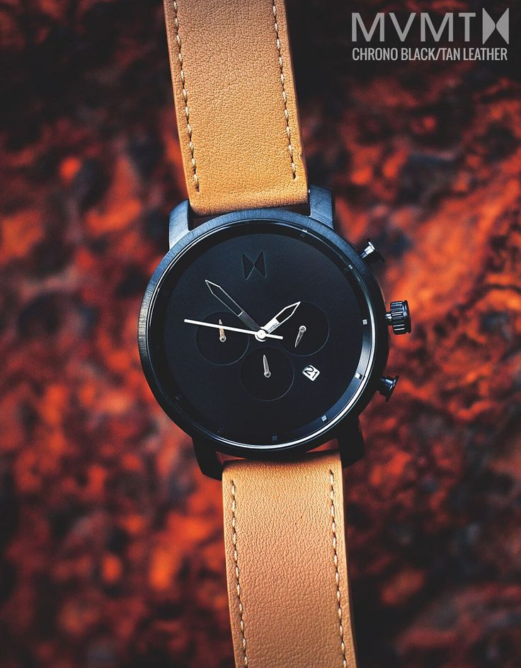 Why does GQ and Playboy rate MVMT Watches a must have timepiece? Because style shouldn't break the bank, and quality crafted minimalist products shouldn't cost a fortune. Your search for a perfect timepiece ends here. For just $135 this Chrono Black/Tan Leather watch is a must have. Compliments guaranteed. Click the buy button to get it now!