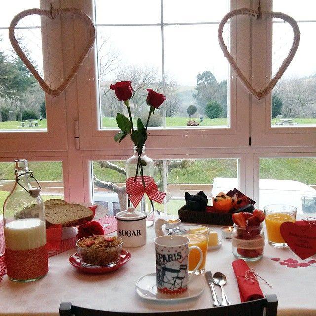 Desayuno San Valentín - Valentine's day breakfast