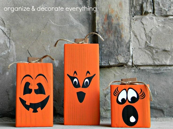 4x4 2-Sided Pumpkins and Giveaway - Organize and Decorate Everything