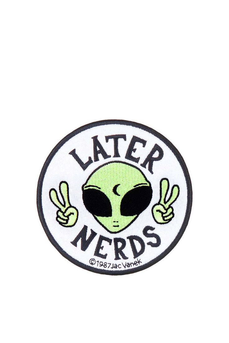Later Nerds Iron-On Patch
