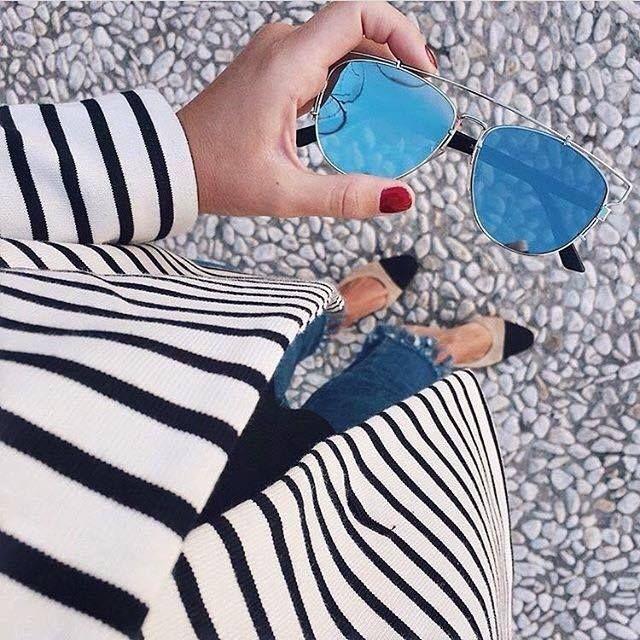 Sandy Blue Mirror Sunnies