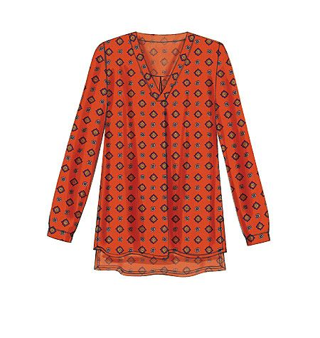 New tunic sewing pattern from McCall's has a boho feel to it. M7248, Misses' Tops. Sleeve and neckline variations.