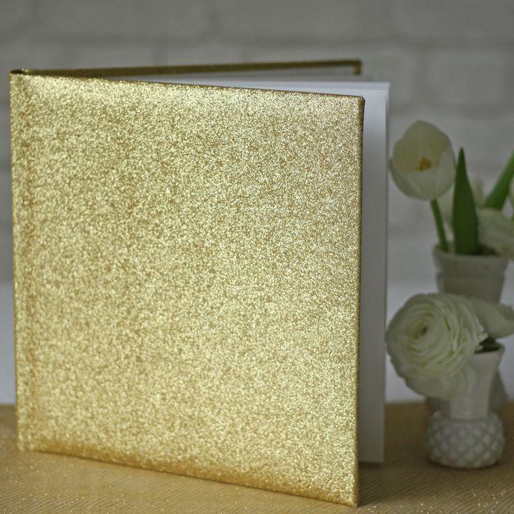 Gold Glitter Wedding Guest Book