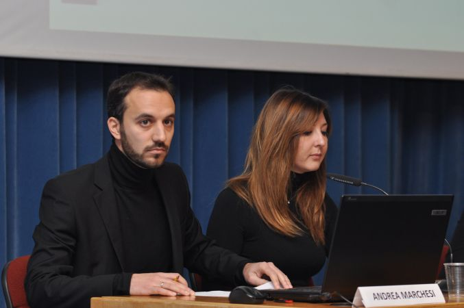 """Conferenza """"Architetti in Prospettiva"""": moderatori, arch. Andrea Marchesi e arch. Valentina Nastati"""