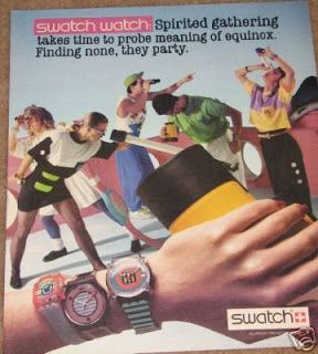 Vintage Swatch Watch Print Ads from the 80s - THE SHILLZ DA REALZ SHOW