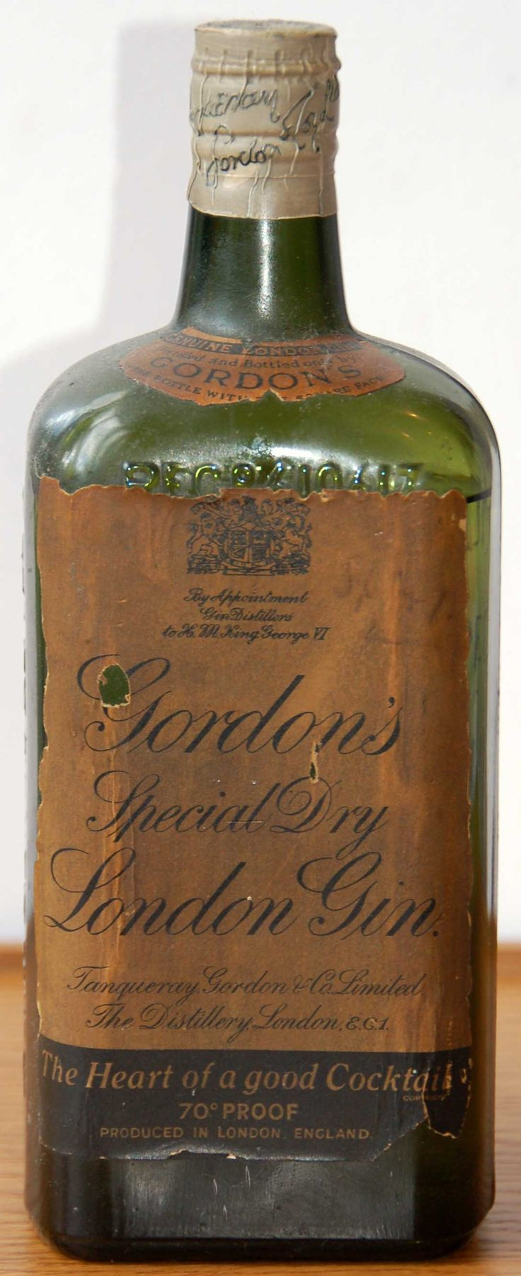 Gordon's Special Dry London Gin 1930's