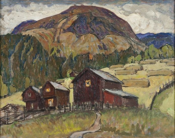 Summer Landscape with mountain pastures, Nordlandet by Anna Boberg. Nationalmuseum Sweden, CC BY-SA
