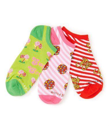 Loving this Candy Crush 'Sugar Crush' Three-Pair Low-Cut Socks Set - Adult on #zulily! #zulilyfinds