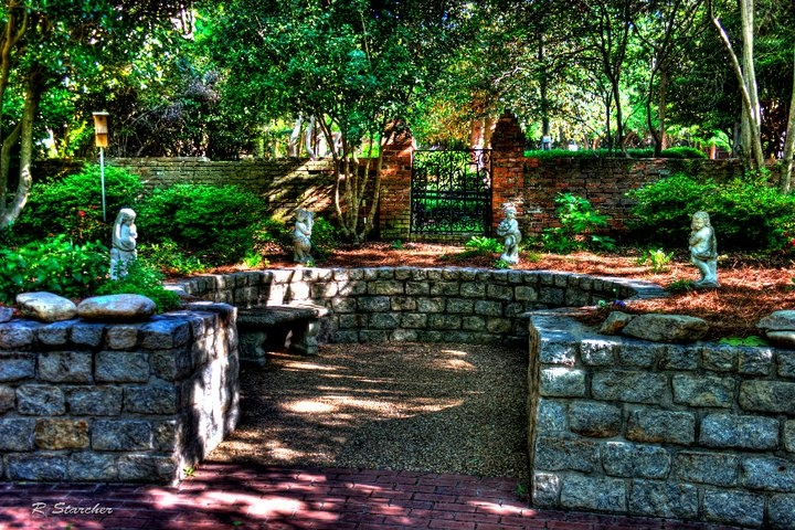 The secret garden at Pendleton King Park  in Augusta, Georgia  Photographer Ronald Starcher