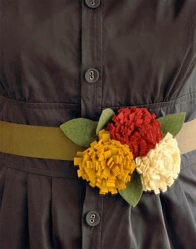 Fabric Flowers tutorialsAutumn Bloom, Fabrics Flower, Flower Tutorials, Flower Bouquets, Autumn Flower, Bloom Belts, Felt Flower Tutorial, Felt Flowers, Flower Belts