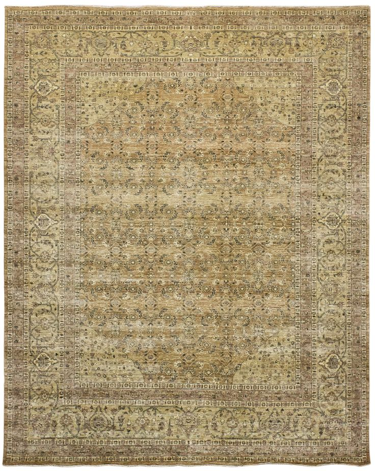 Mardan Tabriz Taupe Rug Handknotted In Stan Made Of Premium Wool Offered Sizes 4 X 6 To 10 14 Purchase At Hemphill S Rugs Carpets Orange