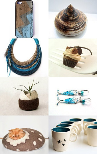 Chocolate and blue  --Pinned with TreasuryPin.com