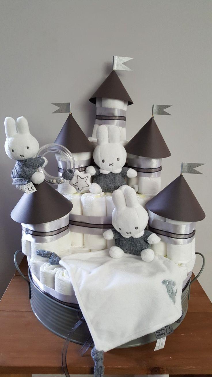 Nijntje luierkasteel / Miffy diapercastle by Made by Mara