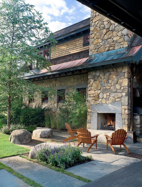 Mountain Lodge contemporary landscape