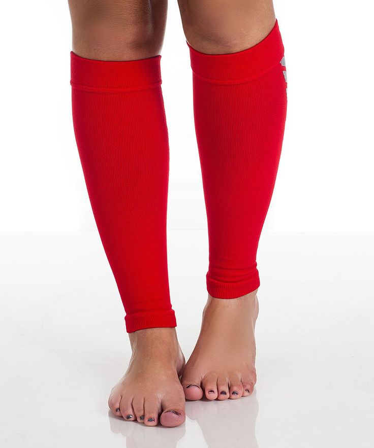 Red Calf Compression Running Sleeves