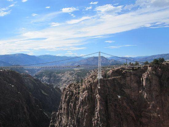 royal gorge bridge from Sky tram
