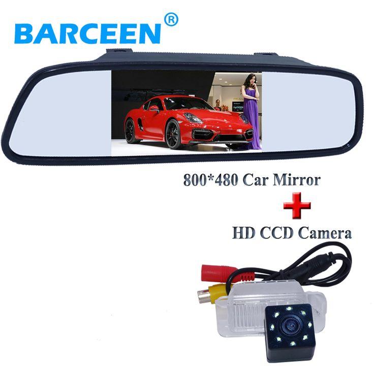 """Для Ford-focus hatchback MONDEO Fiesta набор с 4.3 """"зеркало монитор с авто автомобильная стоянка камера ночного видения 8 светодиодные фонари"""" target=""""_blank"""