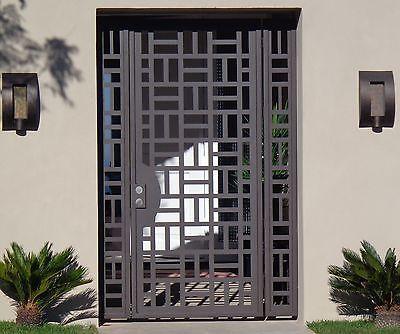 Los Paneles de puerta de metal contemporáneo acero de hierro forjado jardín Personalizado entrada paseo a través de