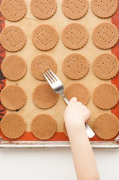 """Homemade Graham Cracker Recipe - I would cut into strips to form """"squarish"""" crackers."""