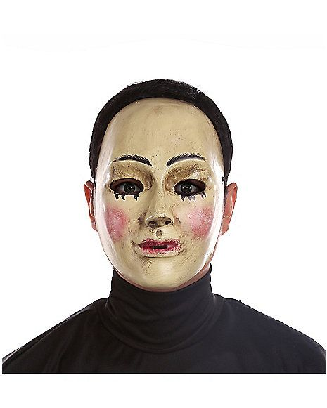 smeared mask frighten the neighbors when you terrorize everyone on halloween while wearing the smeared mask this creepy plastic mask features smeared - Creepy Masks For Halloween