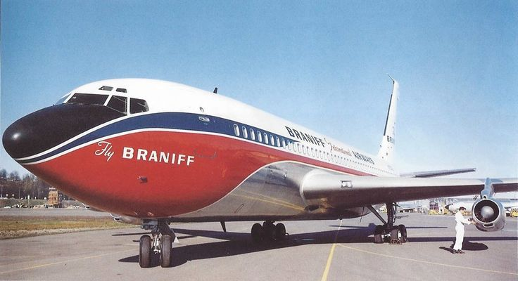 Braniff International Boeing 720-027 N7076 undergoing final pre-delivery touches at Boeing's Renton plant, February 1961. (Photo: Braniff Flying Colors Collection)