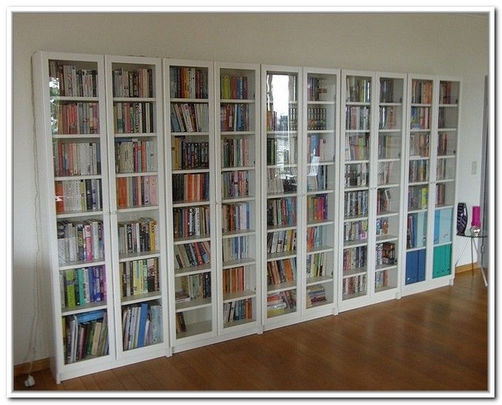 bookshelves with glass doors: appealing awesome ikea billy bookcase with glass  doors wood floor white - 25+ Best Ideas About Bookcase With Glass Doors On Pinterest