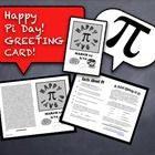 I give each and every one of my students this Pi Day greeting card upon entering my class every Pi Day!  After handing each student a card and wish...