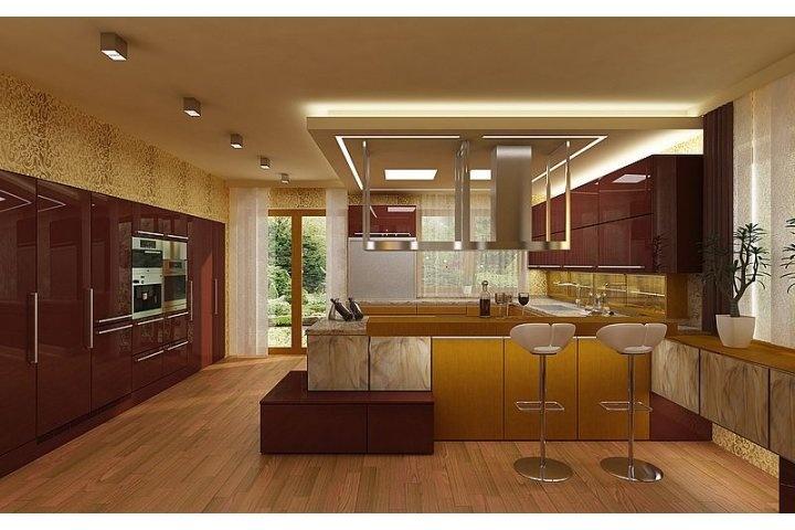 Luxusní kuchyně teplejších barvách  www.alnus.cz/moderni-kuchyne-fotogalerie/