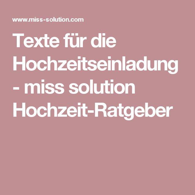 die besten 25+ hochzeitseinladung text ideen auf pinterest | text, Einladung