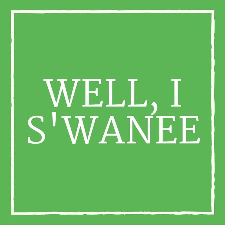 """Well, I S'wanee - 24 Phrases Only Southerners Use - Southernliving. Instead of """"Well, I swear,"""" Southerners have adopted a geographically inspired alternative. """"Well I s'wanee"""" evokes the Southern Suwannee River. Or, depending on where you live, it could be Sewanee, the small college town in Tennessee."""