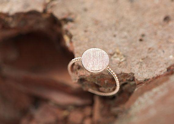 Rosé Gold Ring filigree gold ring delicate ring by lebenslustiger, $48.00