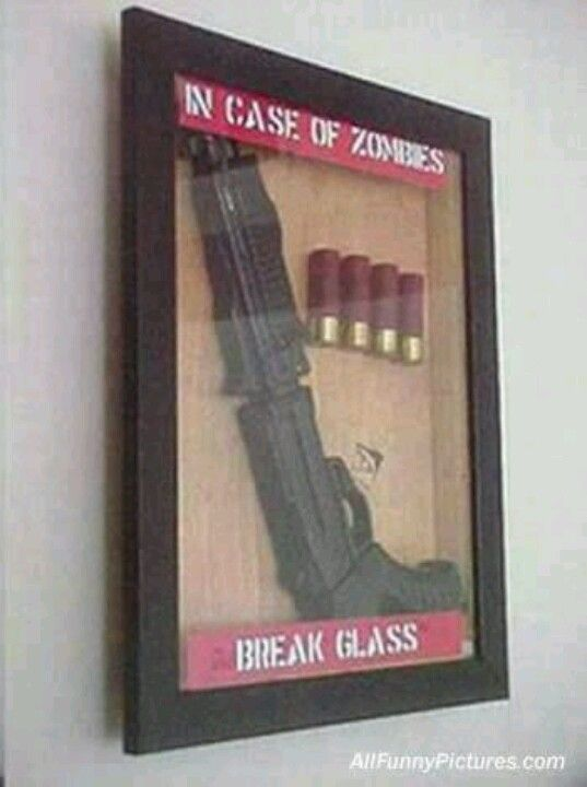 I might have to make this... Hang a couple around the man cave (with fake guns, no way he could help himself if they were real)