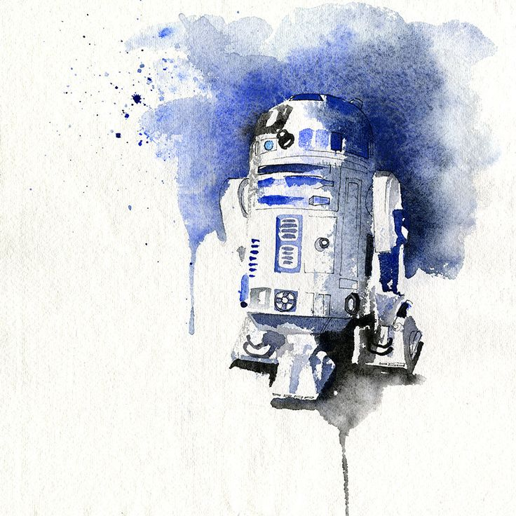 Star Wars Heroes Aquarelles by Blule / R2D2